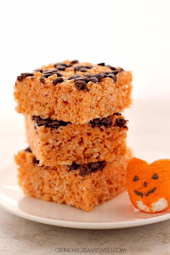 pumpkin spice rice krispies 3 Pumpkin Spice Rice Krispies Treats