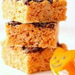 pumpkin spice rice krispies treats a 150x150 Pumpkin Spice Rice Krispies Treats