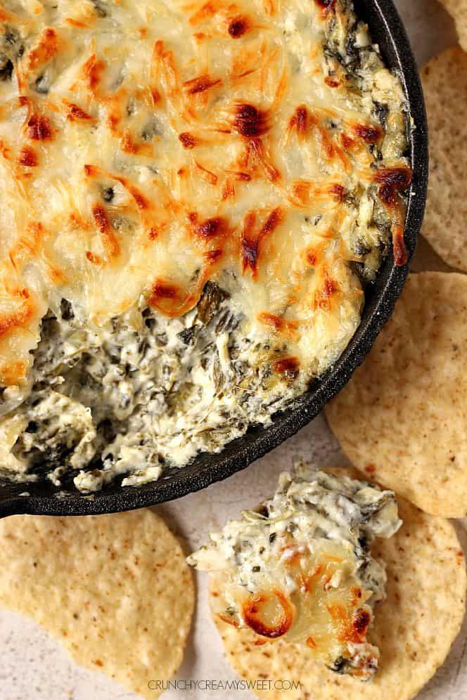 spinach artichoke dip 1 Easy Garlic Cheese Bombs Recipe