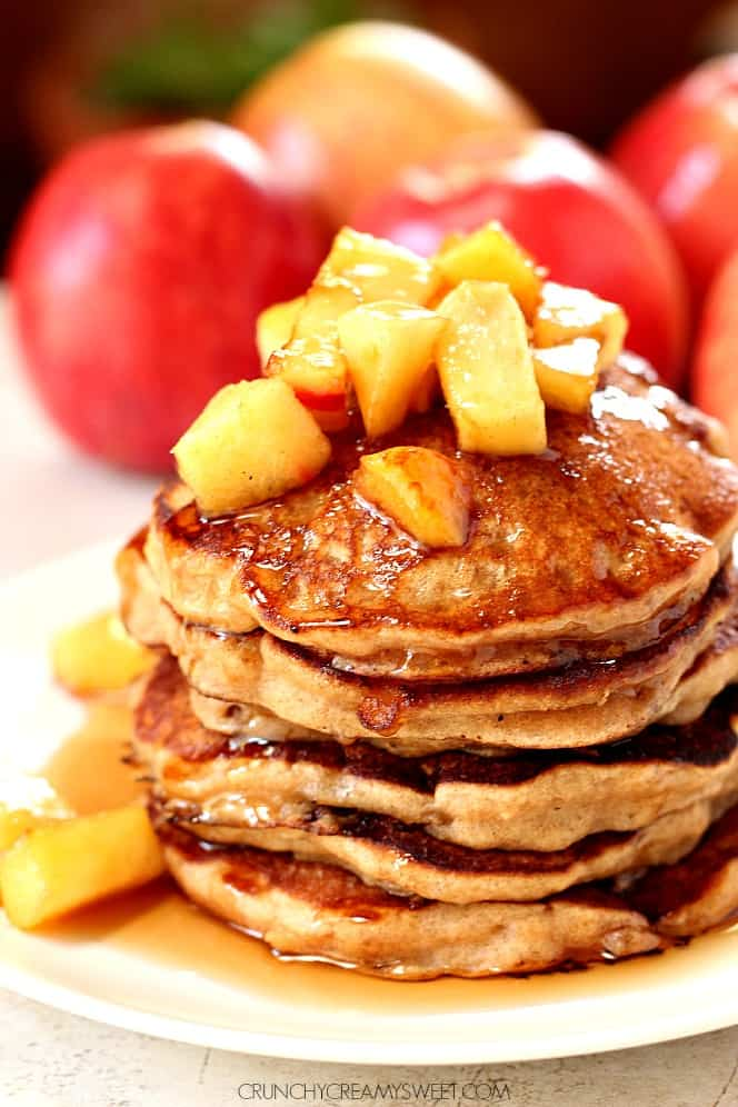 apple cider pancakes 1 Fluffy Chocolate Chip Pancakes Recipe