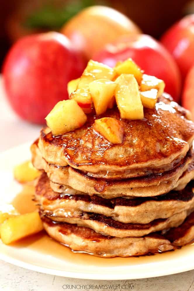 apple cider pancakes 1 Fluffy Vegan Pancakes Recipe