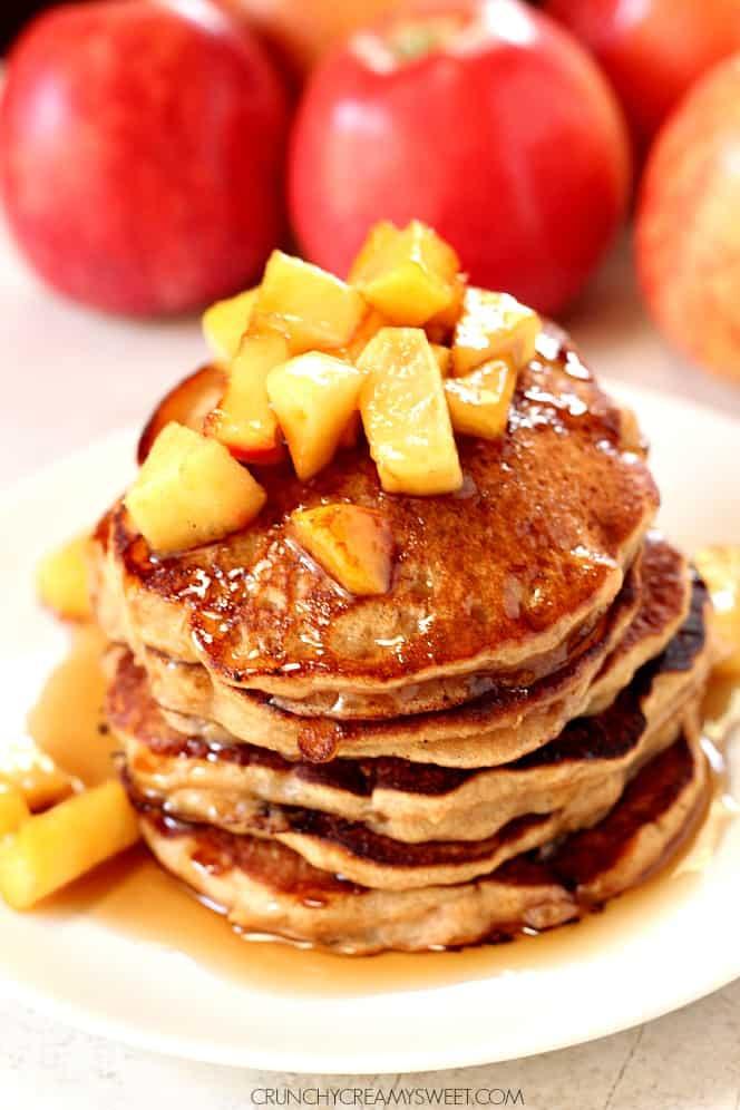 apple cider pancakes 2 Apple Cider Pancakes
