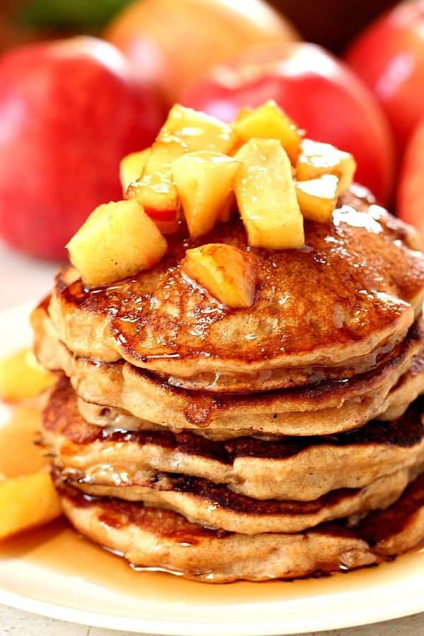 apple cider pancakes a Apple Cider Pancakes