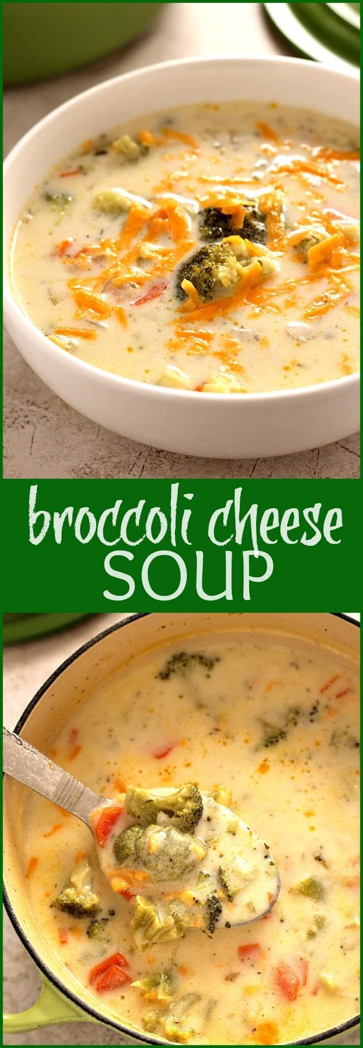Broccoli Cheese Soup Panera Copycat Crunchy Creamy Sweet