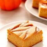 caramel swirl pumpkin cheesecake bars