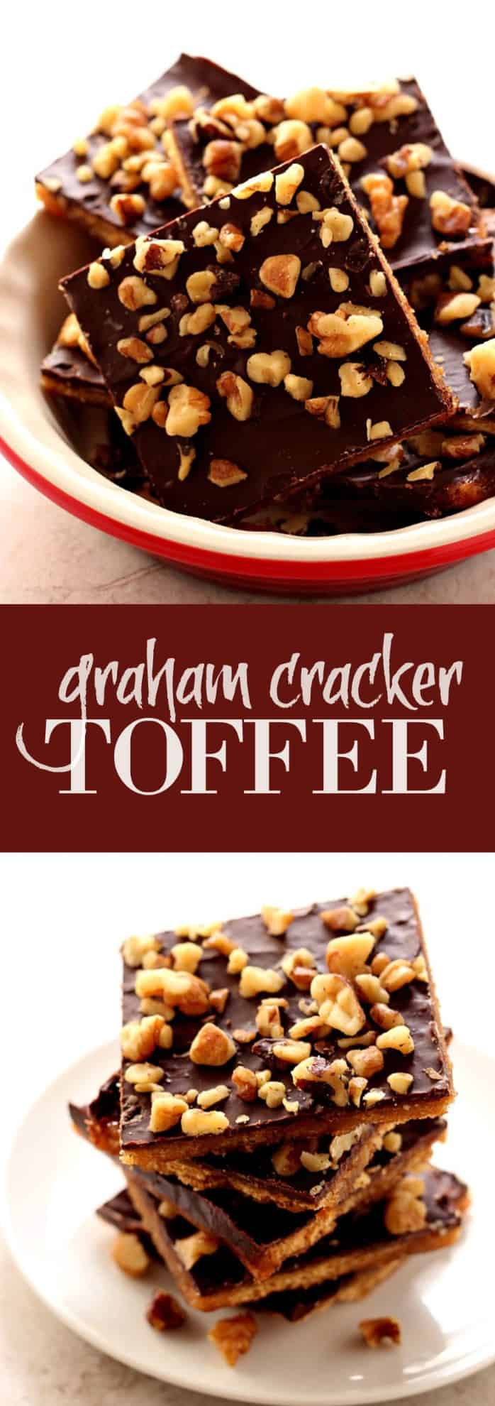 graham cracker toffee long Graham Cracker Toffee Bark