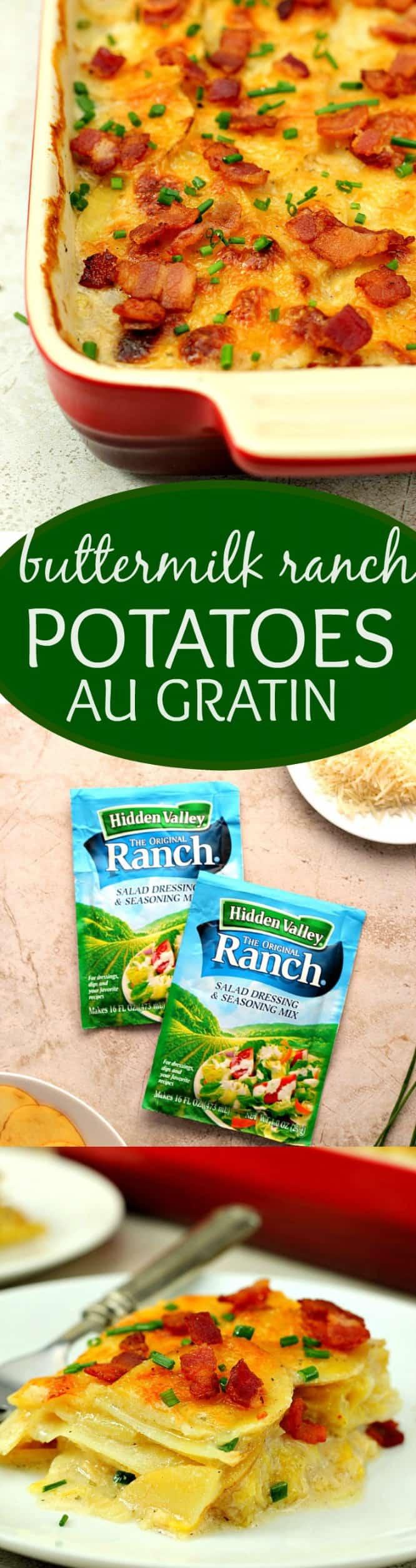 buttermilk ranch potatoes au gratin long Buttermilk Ranch Potato Gratin