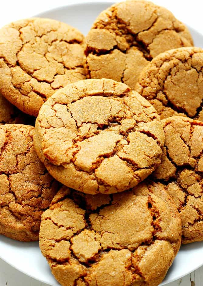ginger molasses cookies A Chewy Ginger Molasses Cookies