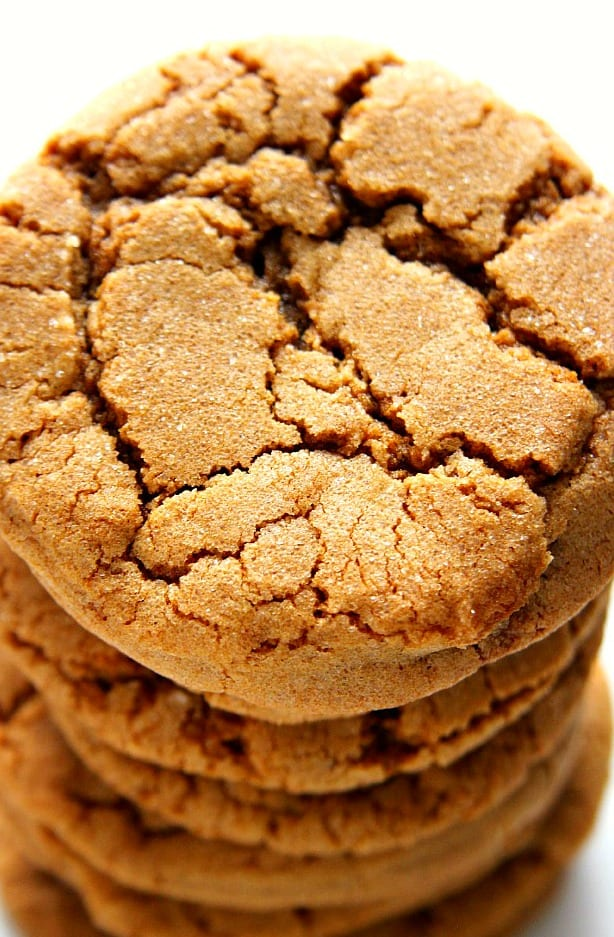 ginger molasses cookies B Molasses Cookies