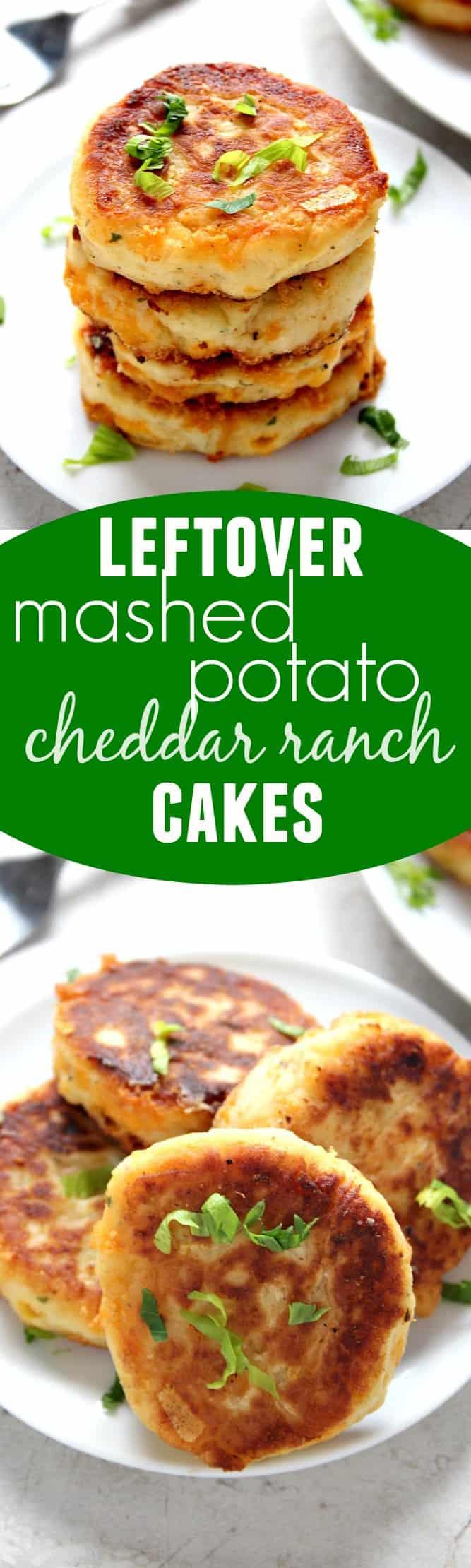 potato cakes long Leftover Mashed Potato Cheddar Ranch Cakes