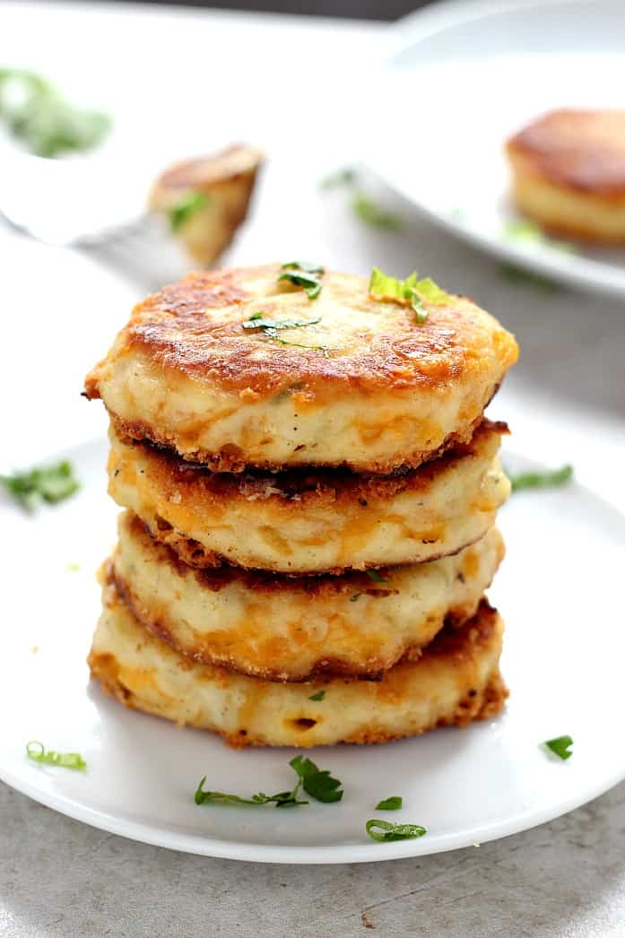 potato pancakes 1 Leftover Mashed Potato Cheddar Ranch Cakes