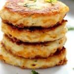 potato pancakes a 150x150 Leftover Mashed Potato Cheddar Ranch Cakes