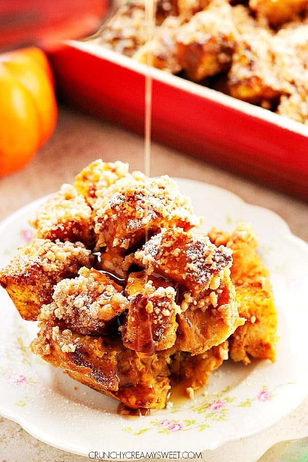 pumpkin French toast bake B Pumpkin French Toast Casserole