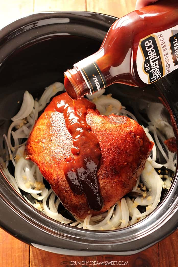 slow cooker pulled pork step1 The Best Slow Cooker Pulled Pork