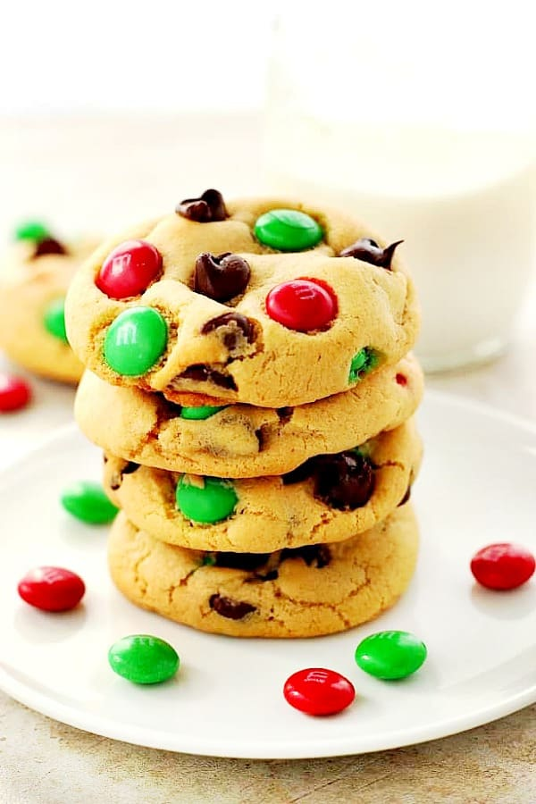 Christmas M M Cookies Crunchy Creamy Sweet