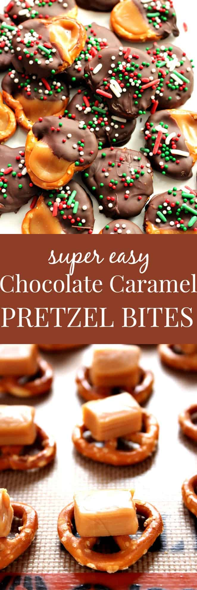 pretzel bites long Easy Chocolate Caramel Pretzel Bites Recipe