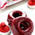 red velvet chocolate donuts 2 150x150 Baked Chocolate Donuts with Red Velvet Marshmallow Glaze