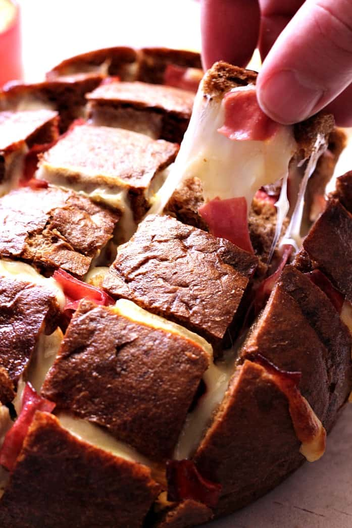 reuben pull bread 3 Sweet and Spicy Bacon Wrapped Little Smokies Recipe