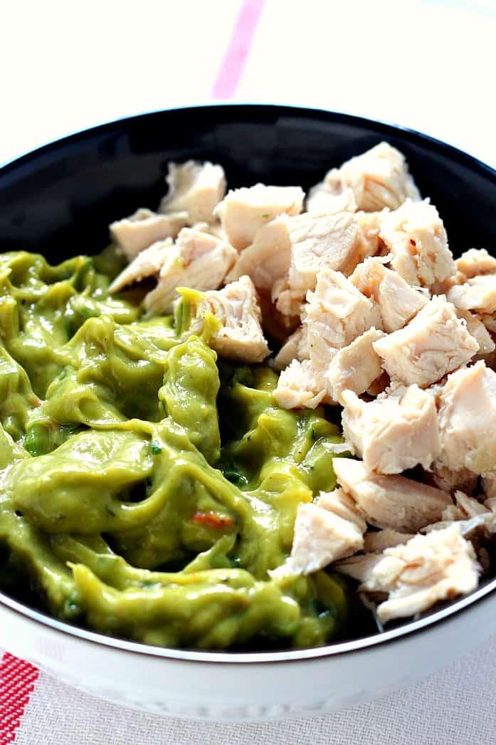 avo salad 2 Guacamole Chicken Salad Recipe