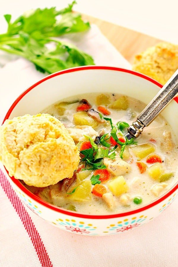 chicken pot pie soup Aa Easy Chicken Pot Pie Soup