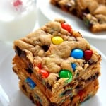 cookie bars 5 150x150 M&M Chocolate Cookie Bars Recipe