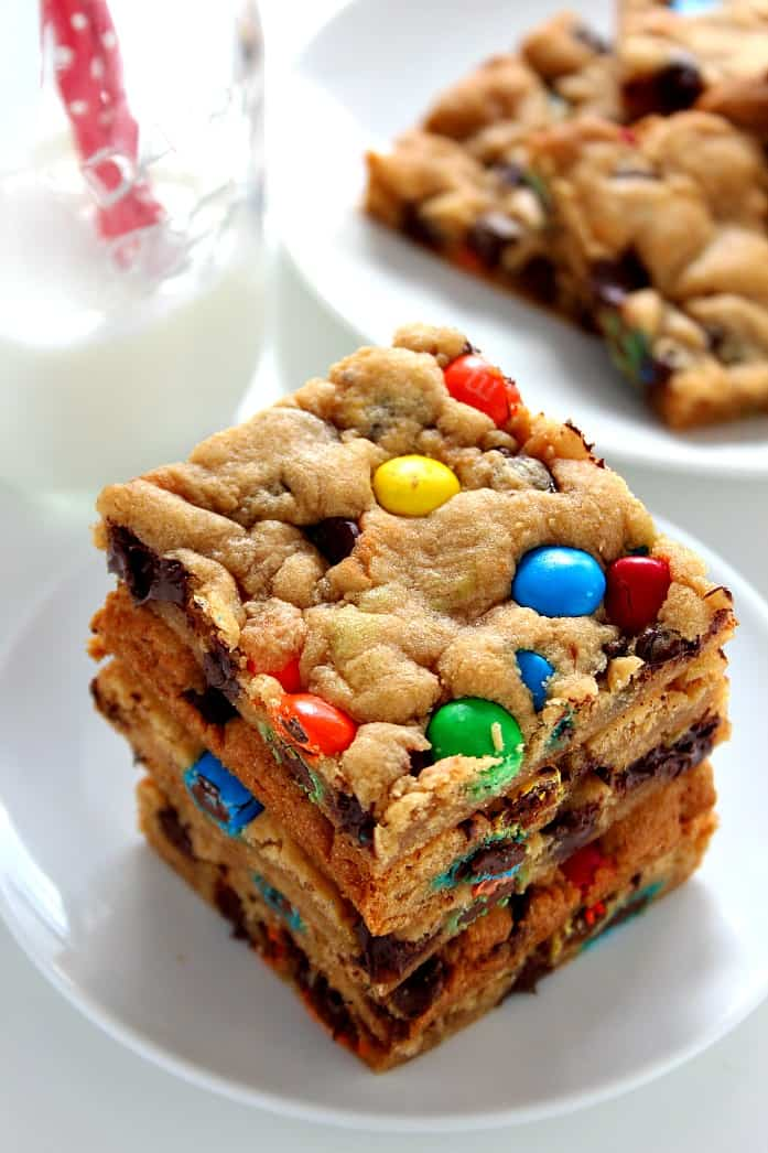 cookie bars 5 Peanut Butter Chocolate Chip Cookies Recipe