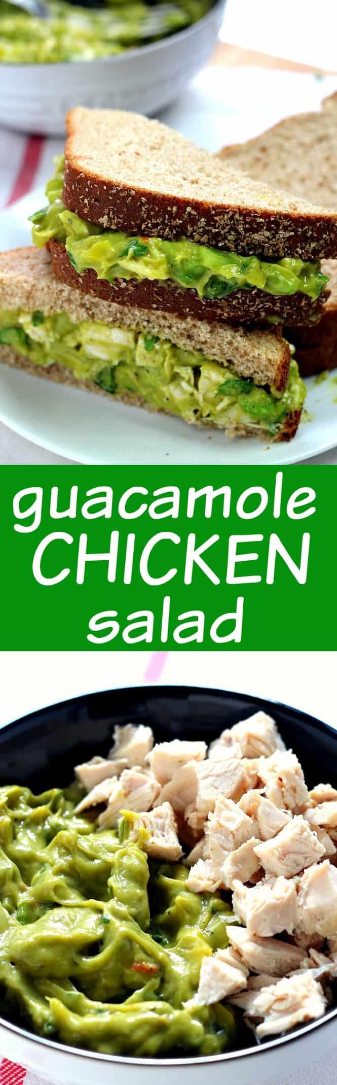 guacamole chicken salad long Guacamole Chicken Salad Recipe