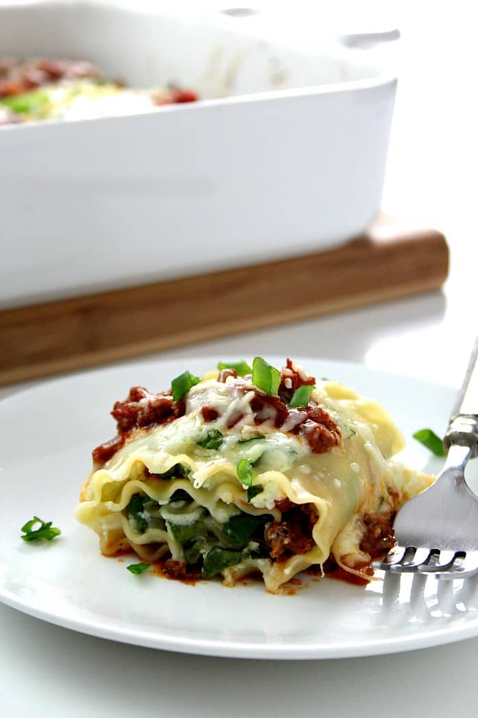 roll ups 1 Spinach Lasagna Roll Ups Recipe