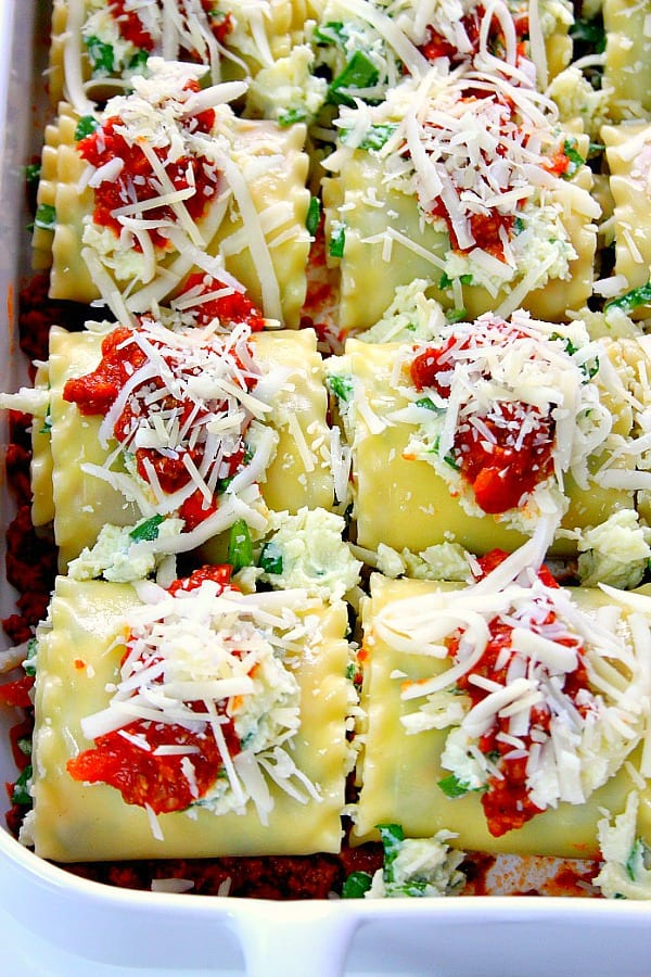 spinach lasagna roll ups a Spinach Lasagna Roll Ups Recipe