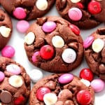 vday cookies 3 150x150 Double Chocolate M&M Cookies Recipe