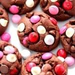 vday cookies 3 150x150 Double Chocolate M&M Cookies Recipe