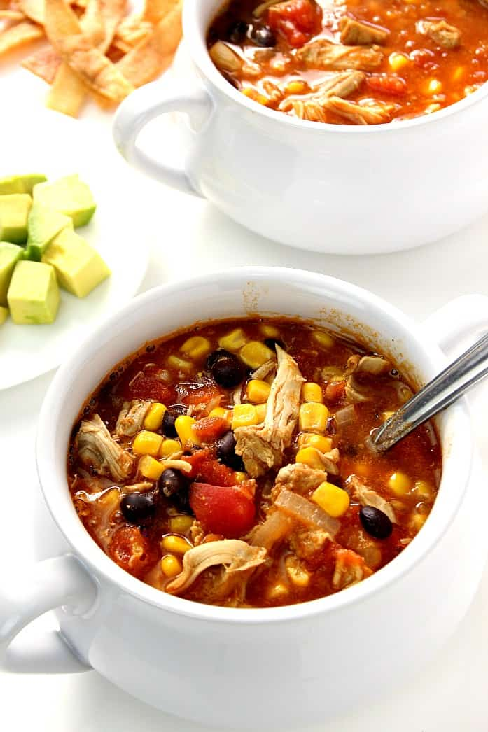 enchilda soup 3 20 Minute Chicken Enchilada Soup Recipe