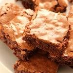 fudge brownies B 150x150 Homemade Fudge Brownies Recipe