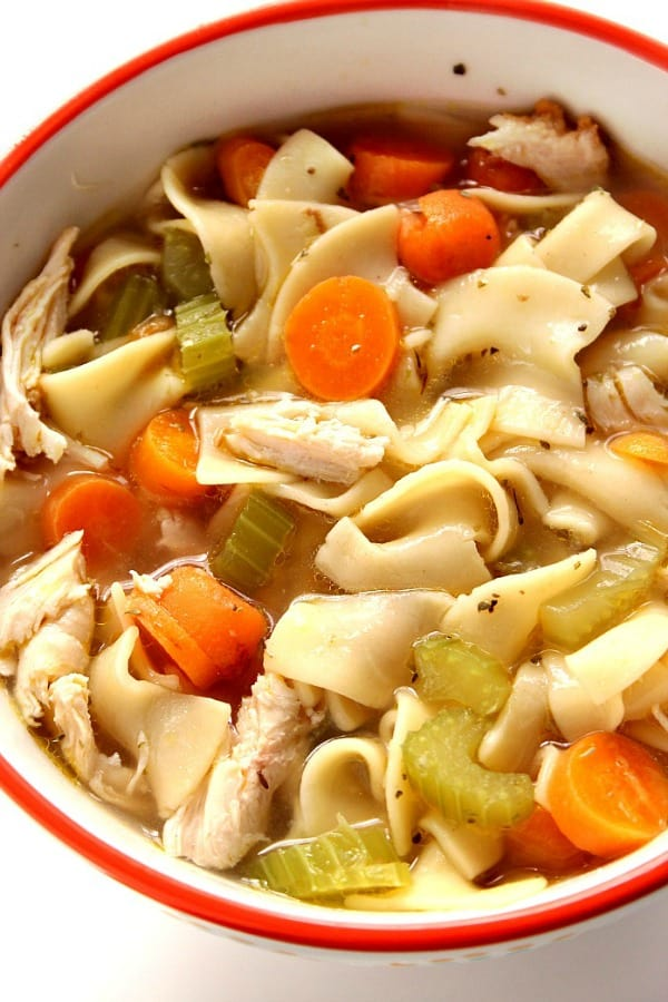 homemade chicken noodle soup 20 Minute Chicken Noodle Soup Recipe