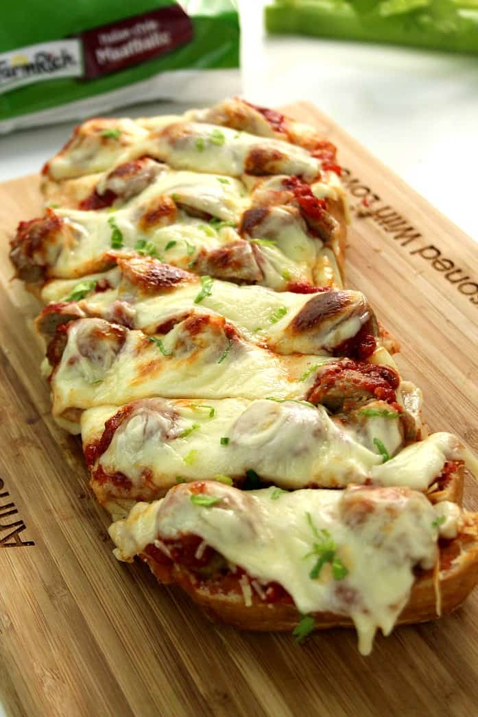 meatball sub bread 3 Meatball Sub Cheesy Bread Recipe