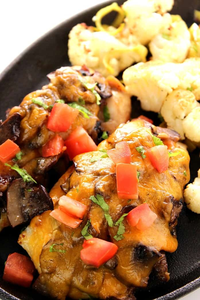 sargento 3 Mushroom Cheddar Chicken with Roasted Cauliflower and Leeks Recipe