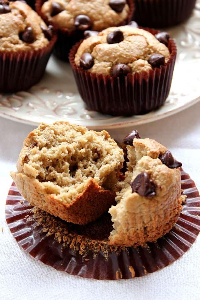 blender muffins 1 Flourless Peanut Butter Blender Muffins Recipe