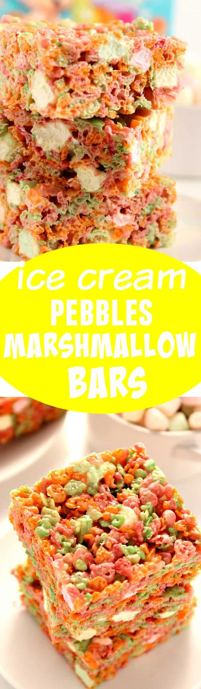 cereal bars long 2 Ice Cream Pebbles Marshmallow Cereal Bars Recipe