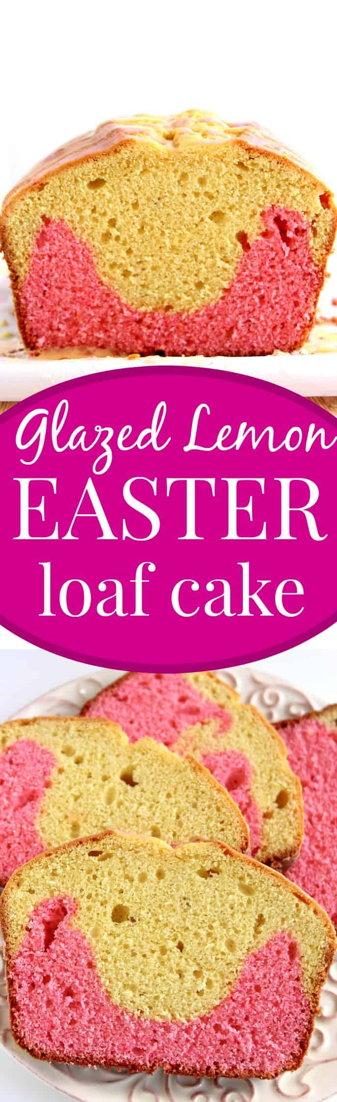 glazed lemon easter cake long Glazed Lemon Easter Loaf Cake Recipe