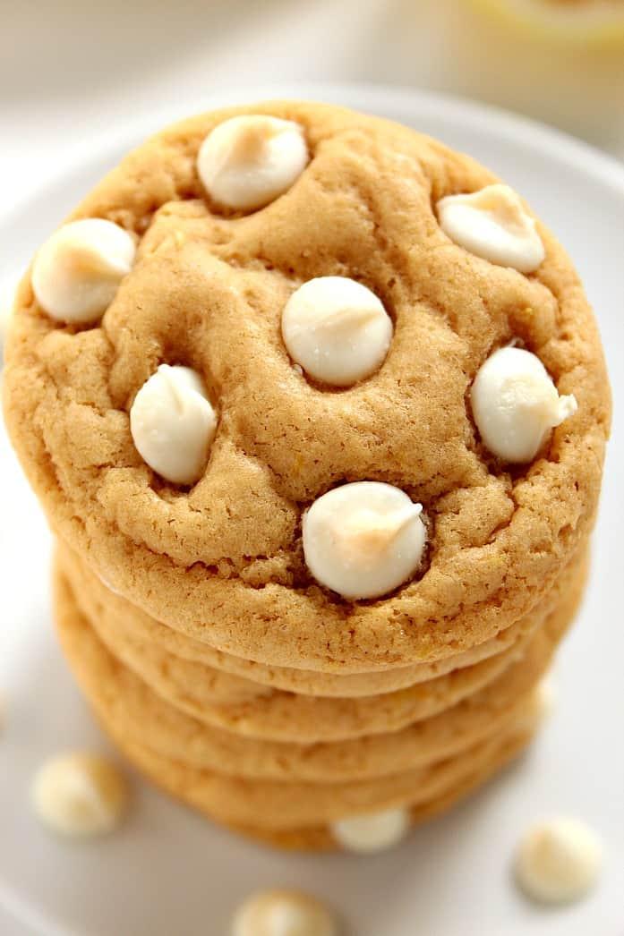 lemon cookies 2 Lemon White Chocolate Chip Cookies Recipe