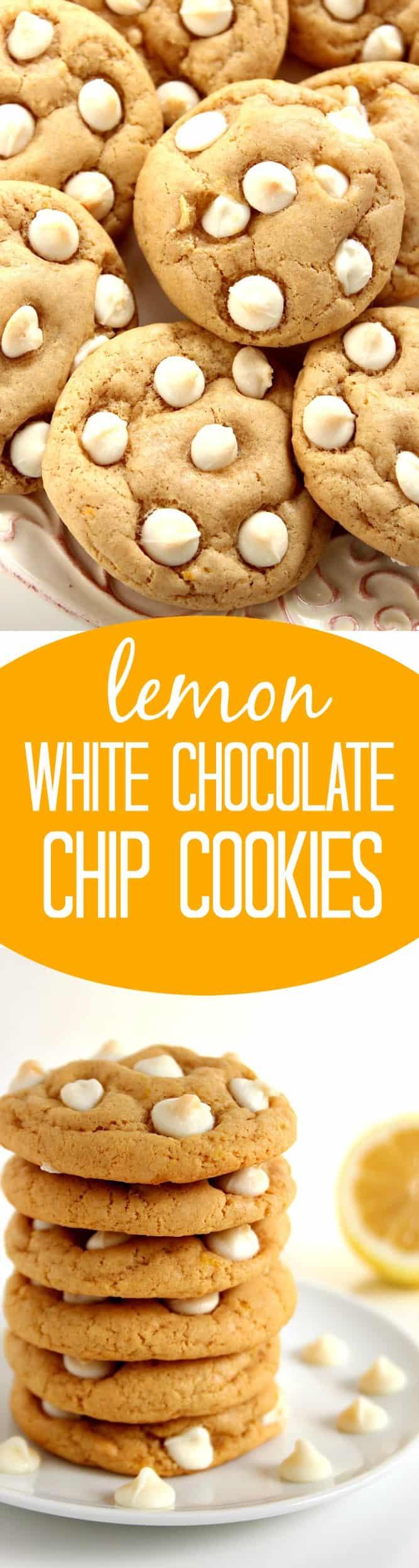 lemon cookies long Lemon White Chocolate Chip Cookies Recipe