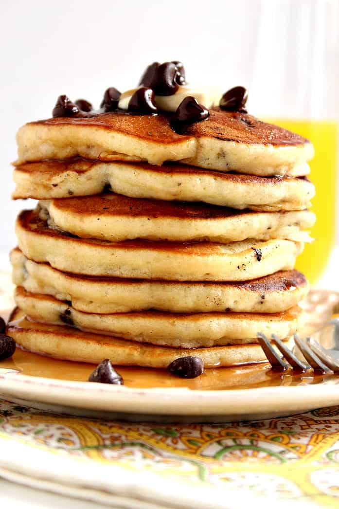 pancakes 3 Fluffy Chocolate Chip Pancakes Recipe