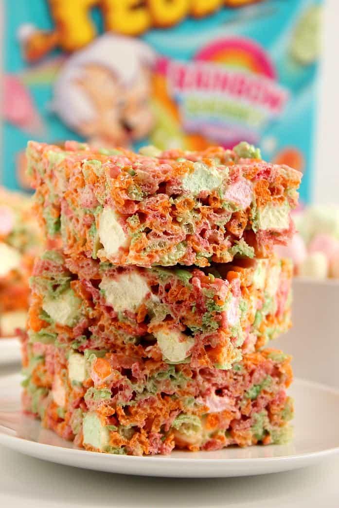 pebbles bars 4 Ice Cream Pebbles Marshmallow Cereal Bars Recipe