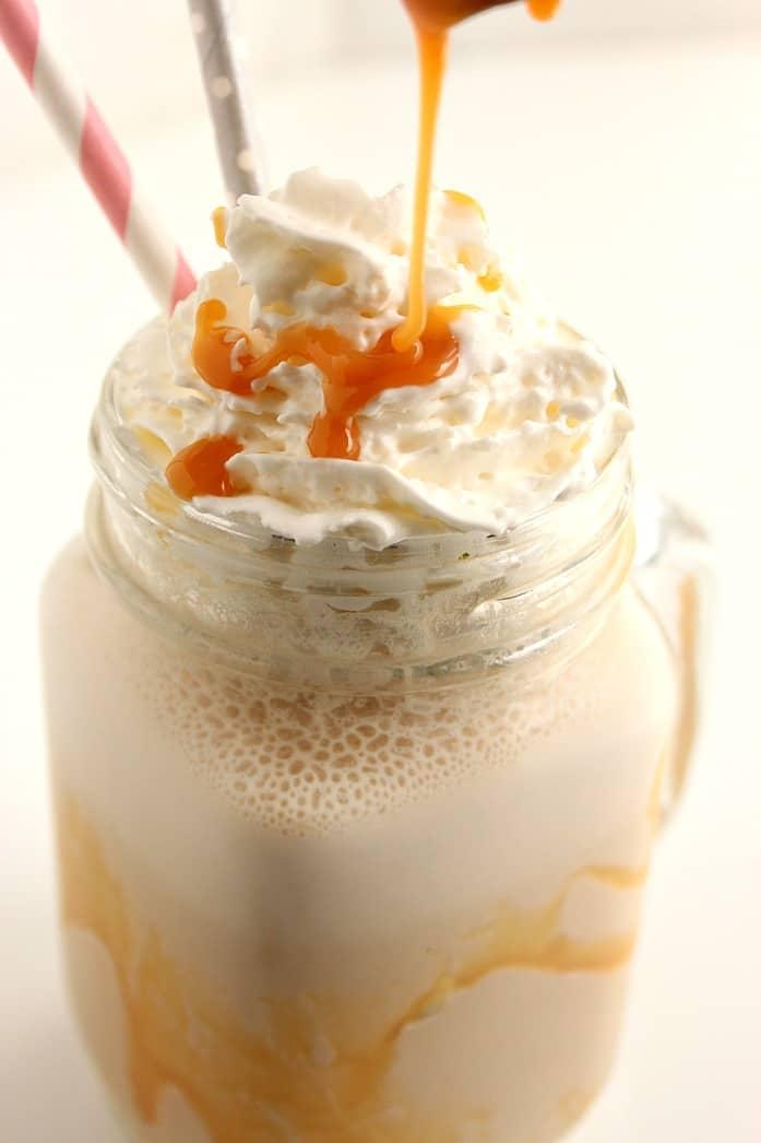 caramel frappe 4 Homemade Salted Caramel Frappuccino Recipe