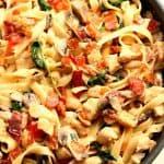 creamy chicken pasta 150x150 Creamy Mushroom Chicken Pasta Recipe