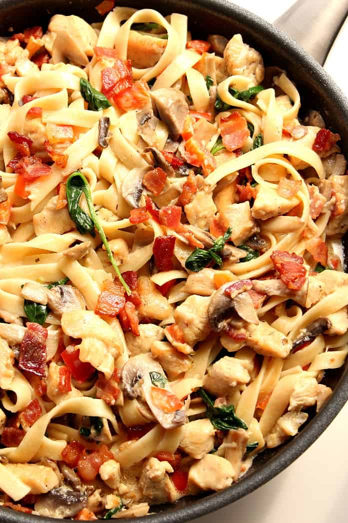 Chicken bacon mushroom pasta recipes