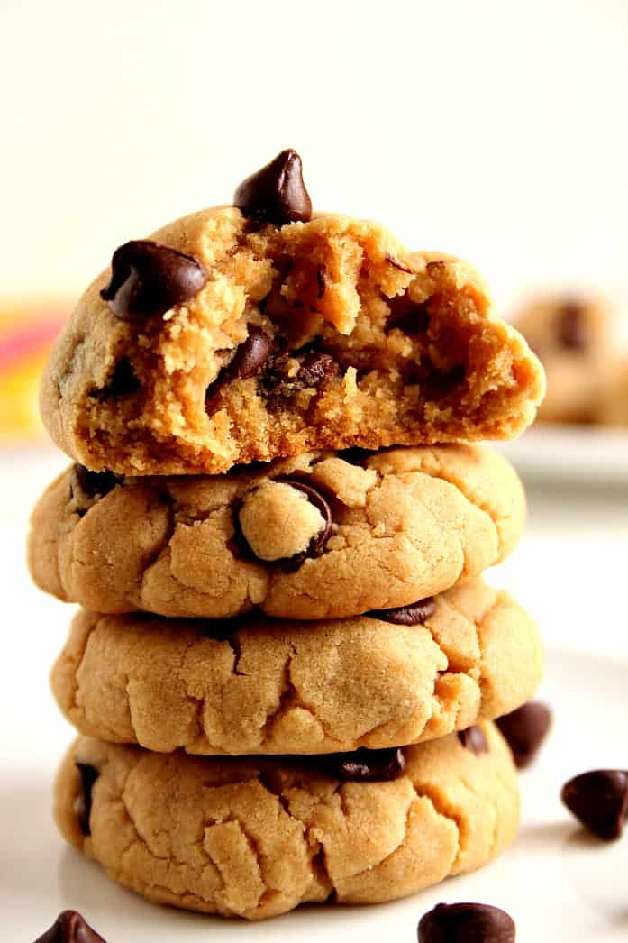 pb chocolate chip cookies 1 Peanut Butter Chocolate Chip Cookies Recipe