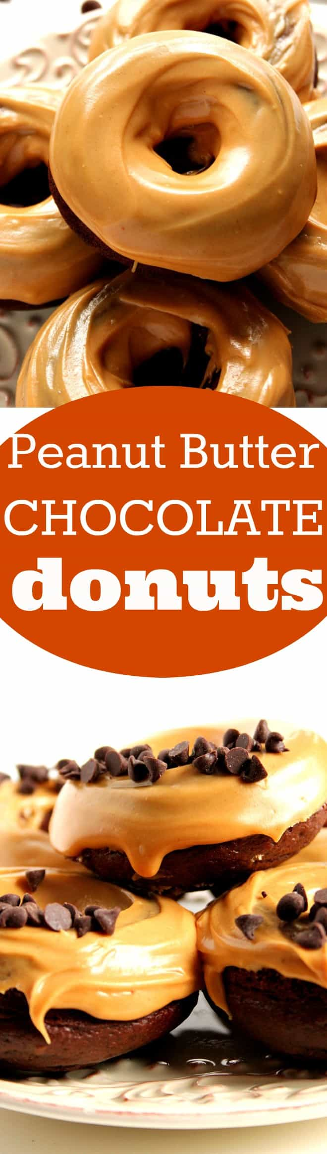 peanut butter glazed chocolate donuts long 1 Peanut Butter Glazed Chocolate Donuts Recipe