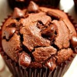 chocolate blender muffins A 150x150 Chocolate Peanut Butter Blender Muffins Recipe