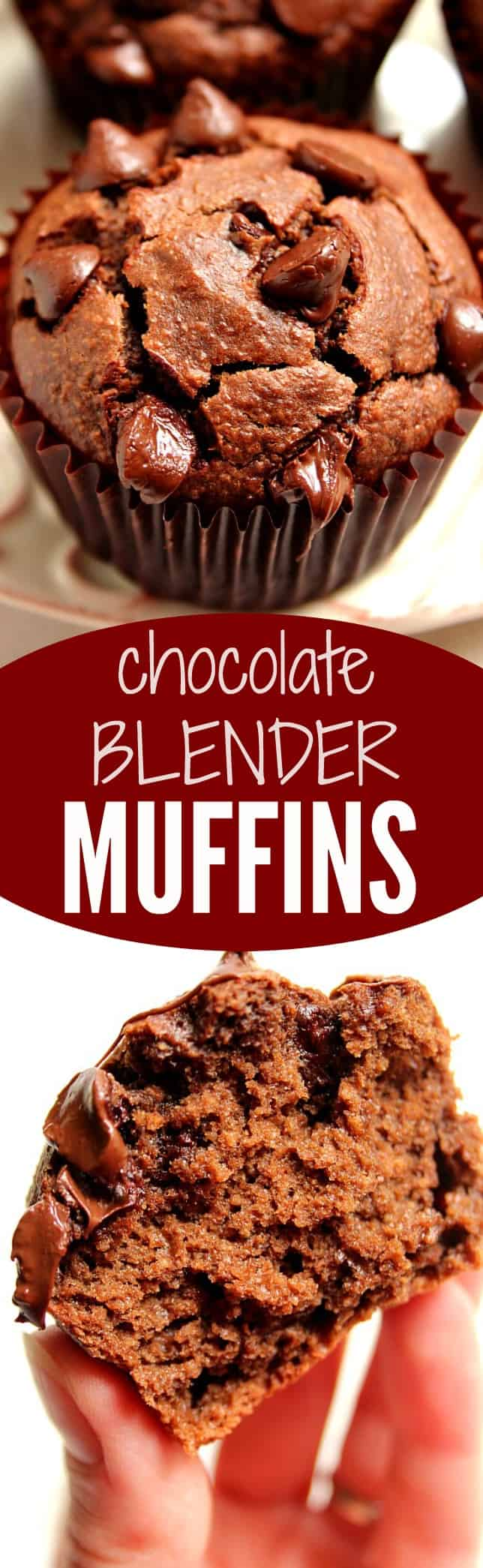 chocolate blender muffins long Chocolate Peanut Butter Blender Muffins Recipe